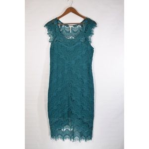 Free People teal lace dress